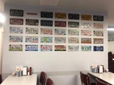 Oasis Diner license plates