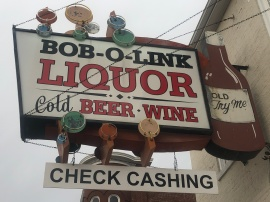 blog liquor sign