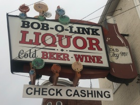 blog liquor sign